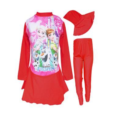 Rainy Collections Baju Renang Anak  ... - Merah [Usia 5-10 Tahun]