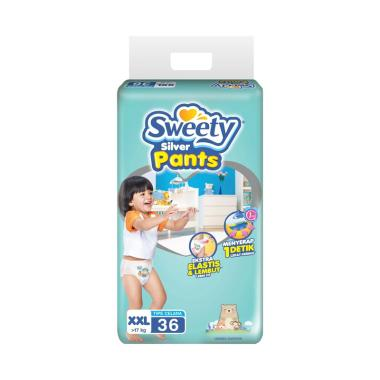 Sweety Diapers Silver Pants Popok Bayi [XXL/36 pcs]