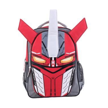 Catenzo Junior Transformer Backpack Tas Sekolah Anak Laki-Laki - Merah