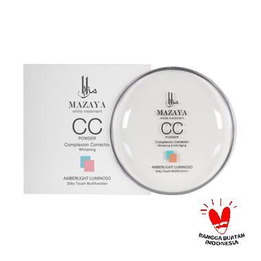 Mazaya CC Powder Complexion Corrector Whitening Amberlight Luminoso