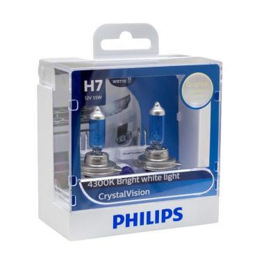 PHILIPS CRYSTAL VISION H7 (4300K) - LAMPU HALOGEN