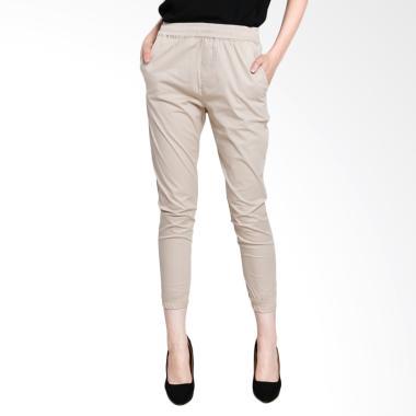 Yoorafashion JP139 Afwindo Jogger Pants Celana Unisex Cream .