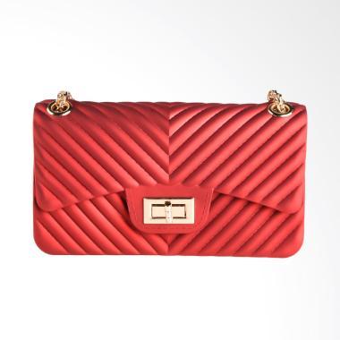 Biubiu Chevron Belle Big BCA 4 Sling Bag Wanita - Red