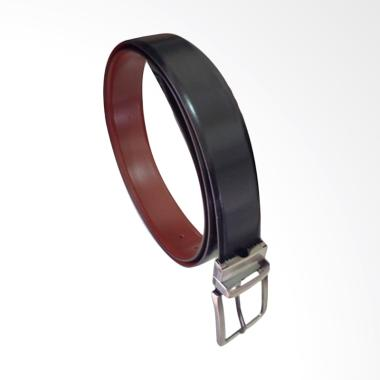 I.L.C Reversible Ikat Pinggang dari kulit kerbau Pria - Hitam & Coklat