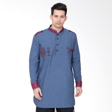 Zayidan Sufyan Baju Muslim Gamis Pria - Navy Blue