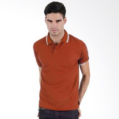 Elfs Shop Lacoste Pique 24S Simple Polo Shirt Pria - Red Brick