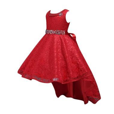 VERINA BABY Variasi Sequin dan Belt Sequin Dress Pesta Anak - Merah