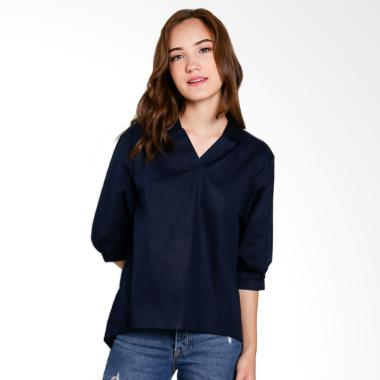 Just Fashion Atasan Wanita - Dark Navy