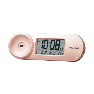 Seiko QHL067P Digital Desktop Alarm Clock - Rose Gold