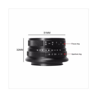 7artisans 25mm F1.8 for Canon EOS-M - Black