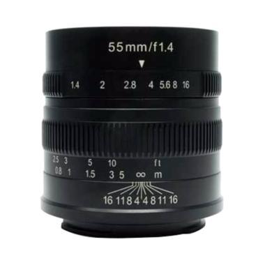 7Artisans 55mm F1.4 for Canon EF-M Lensa Kamera - Black