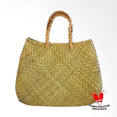Native Borneo Handmade Seagrass Tas Anyaman Rotan Wanita