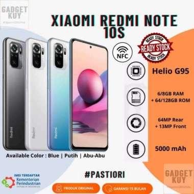 harga Xiaomi Mi Redmi Note 10S Helio G95 6GB+64GB Amoled Garansi Resmi Indonesia Blue Blibli.com