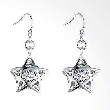 SOXY LKNSPCE200 New Exquisite Fashion Stars Earrings - Silver