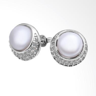 SOXY LKNPLE018 Round Pearl Elegant Ear Studs Earrings