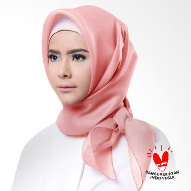 Cotton Bee Organza Square Hijab - Pink