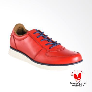 BLANKENHEIM Sneaker Kulit Sepatu Pria - Red [Original]