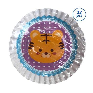 Johnboss Tiger Set Piring Kue Ulang Tahun [12 pcs]