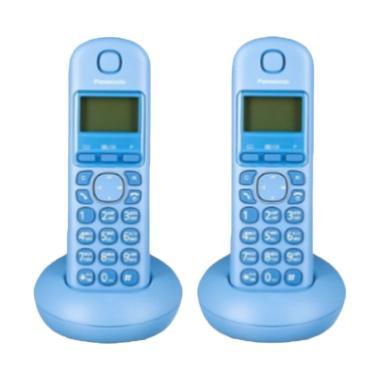 harga Telepon Wireless Panasonic KX-TGB212 - Telepon Wireless Rumah Kantor - Blue Blibli.com