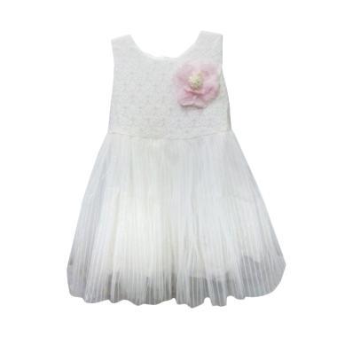 Import Kid Bunga Besar Dress Anak - White