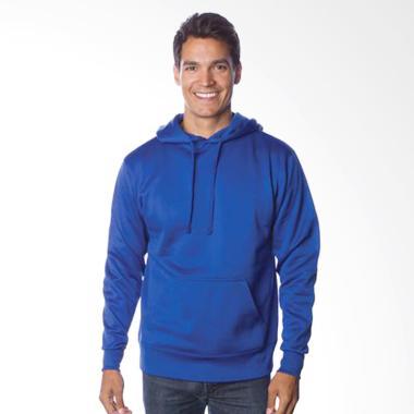 Refill Stuff Hoodie Polos Sweater Pria - Biru