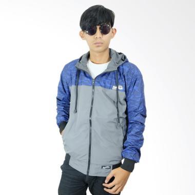 Refill Stuff RS Jaket Bolak Balik Pria - Blue Grey