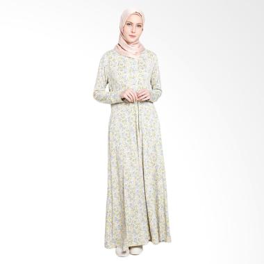 Elzatta Adra Disstress Circle Gamis - Yellow
