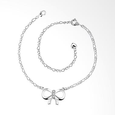 SOXY SPA030 Popular New Fashion Bowtie Hollow Anklets - Silver