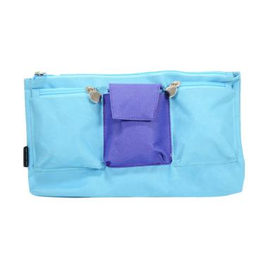 Bambi 5748 Chlorine Medium Pouch Case Tempat Pensil - Blue