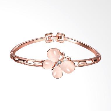 SOXY AKZ010 Butterfly Diamond Women Bracelet - Rose Gold