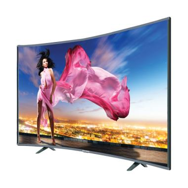 Ichiko S6558 Ultra HD 4K Curve Basic TV LED - Hitam [65 Inch]