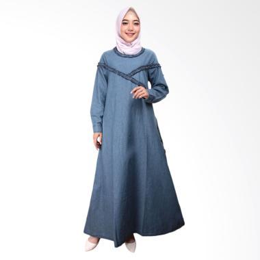 Adore Ladies 491688 Lengan Panjang Dress Muslim Wanita - Light Blue