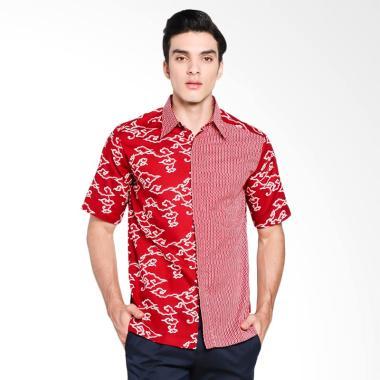 Batik Adikusuma Hem Batik Mega Mend ...  Pria - Merah [542257117]