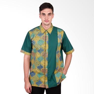 Arya Putra Batik Kemeja Batik Pria - Green [KMJ-013-GY]