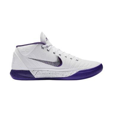 Nike Kobe AD Sepatu Basket Pria - White Purple