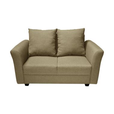 FCENTER Aster 2 Seater Sofa - Cream [Pulau Jawa*)