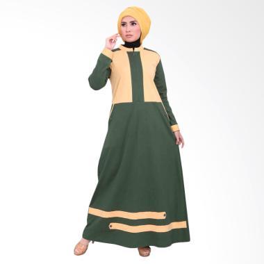 Vemmella Gemma 06 Baju Gamis Muslim Wanita -  Hijau Tua