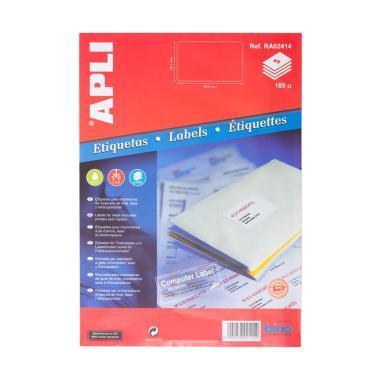 APLI RA02414 Label White Paper [63. ... [63.5 x 38.1MM/ 105 unit}