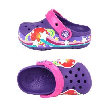 Crocs 201401-518 Lights Galactic Clog Girl Sandal Anak - Purple