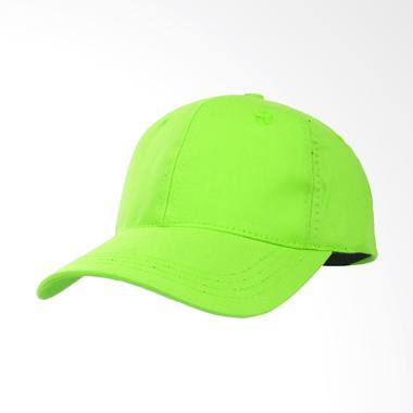Elfs Shop Simple Baseball Twill Polos Topi - Hijau Stabilo