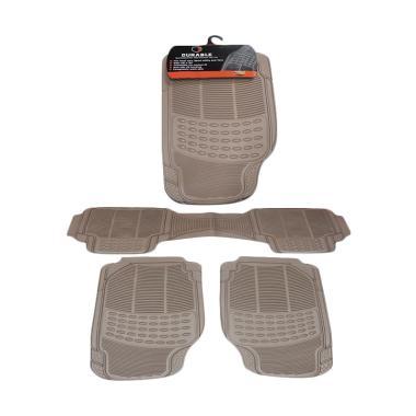 DURABLE Comfortable Universal PVC K ...  AUDI A4 - Beigie [3 Pcs]