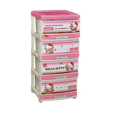 Napolly SFC2 4000 HKBF A+ Lemari Pakaian Anak - Baby Pink