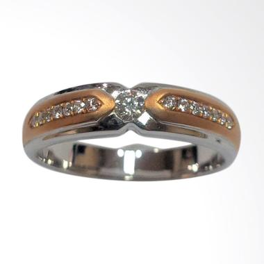 Pentacles FC00775 Wedding Ring White Gold with Diamond