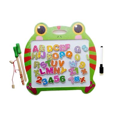 MOMO Double Side Fishing and Writing Board Frog Mainan Edukasi Anak