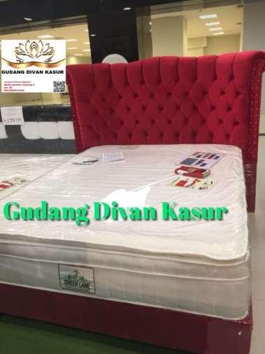 Divan/Dipan/Digan Kasur Sandaran Model Jaguar Mewah(DIVAN ONLY) 160 x 200 Merah