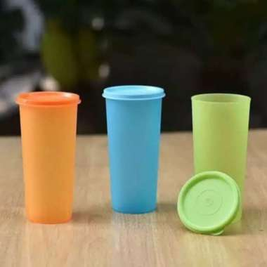 harga Terlaris SOUVERNIR GELAS PLASTIK PLUS TUTUP WARNA WARNI TUMBLER PLASTIK Limited Blibli.com