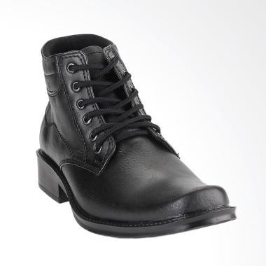 Blackkelly Boots Shoes Formal Sepatu Pria - Black [BLK-LYP 497]