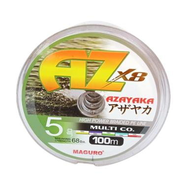 Maguro Azayaka X8 PE Senar Pancing  ... r [100 m/ Size 5/ 68 LBS]