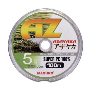 Maguro Azayaka PE Senar Pancing - Yellow [100m/ Size 5/ 60 Lbs]