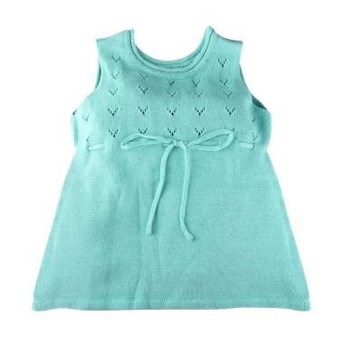 Hello Mici Baju Bayi Knitwear Baby Mini Dress - Mint